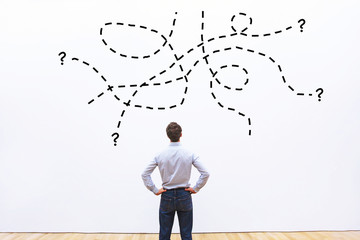 complex difficult task or question un business, problem concept Wall mural