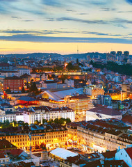 Fototapete - Lisbon at twilight, Portugal