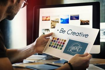 Be Creative Inspiration Design Logo Concept