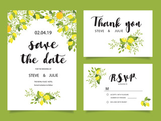 Poster Retro sign wedding template and elements
