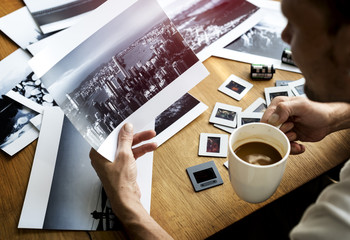 Photographer Photocamera Film Photo Workspace