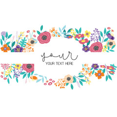 floral frame template with text
