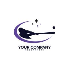 Baseball Logo Template Design Vector, Emblem, Design Concept, Creative Symbol, Icon