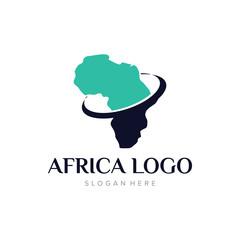 African Logo Template Design Vector, Emblem, Design Concept, Creative Symbol, Icon