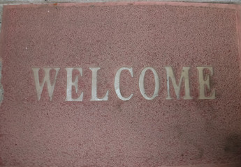 Doormat welcome message