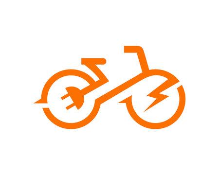 electric bicycle bike e-bike icon