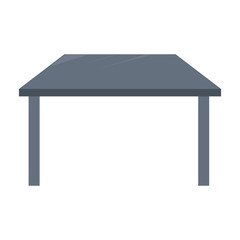 Office desk isolated