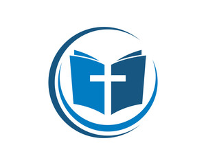 religion cross symbol logo template