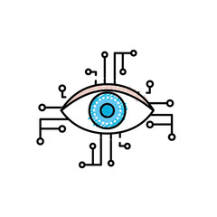 visual technology connect in the cyberspace structure