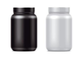 Blank Protein bottles