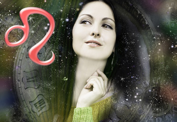 Female astrology, zodiac sign lion