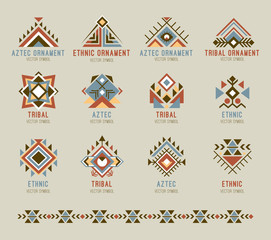 Tribal native pattern set