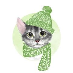 Cat. Watercolor illustration