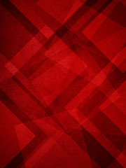 abstract red background, layers of intersecting angles, diamonds, rectangles, triangles and squares floating in graphic art pattern, transparent with canvas texture