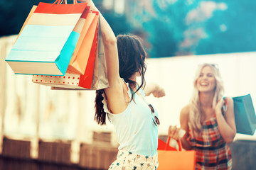 Beautiful Young Woman Having Fun in Shopping