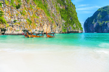 The famous Maya Bay. Krabi Province in Thailand.