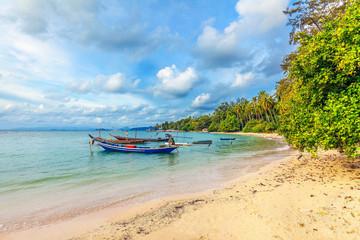 Tropical Na Thien Beach on Koh Samui in Thailand.