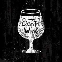Drawing Craft Wine Concept
