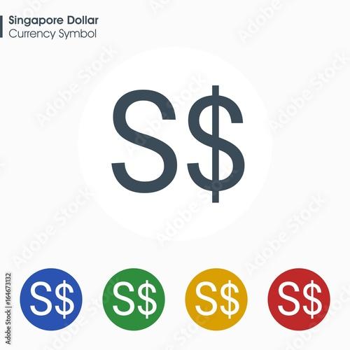 Singapore Dollar Sign Iconney Symbol Vector Illustration Stock