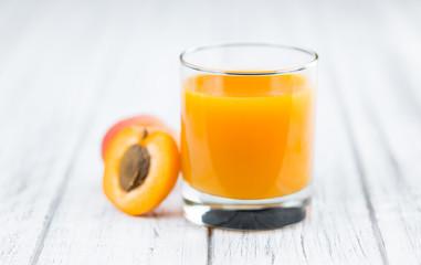 Apricot Juice (selective focus, close-up shot)