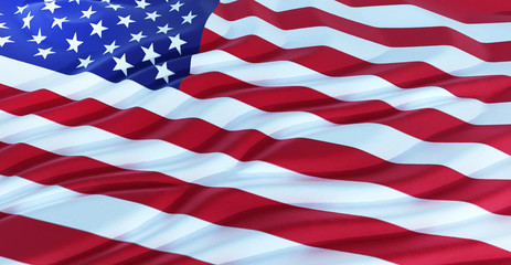 3d rendering of USA Flag, USA flag background, American Flag 4th july american independence day.