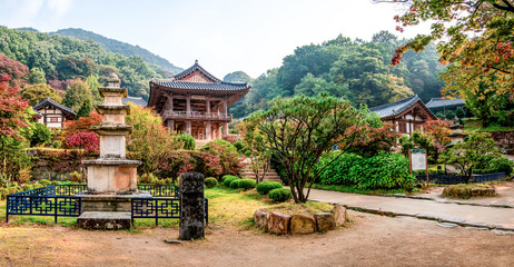 Yeongju  Gyeongsangbuk-do Province, South Korea -  Buseoksa Temple was built in year 676.