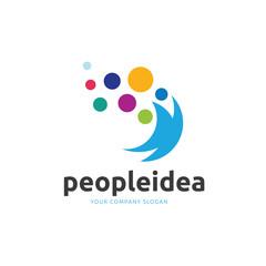 People idea logo template.