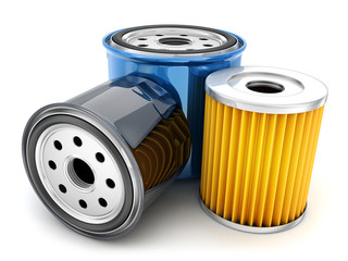 Three car oil filter