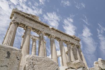 Parthenon Temple on the Athenian Acropolis, in Athens, Greece.