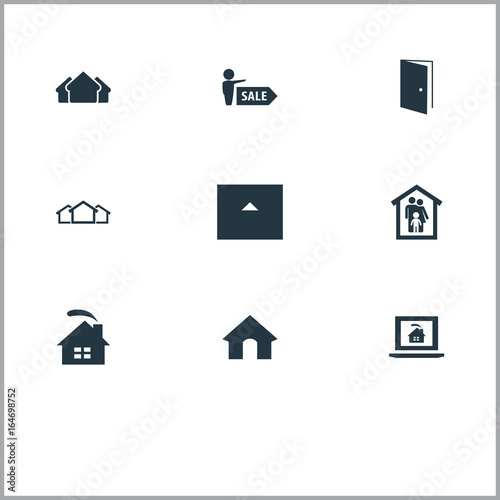 Vector Illustration Set Of Simple Estate Icons. Elements Doghouse Open Door Barn And  sc 1 st  Fotolia & Vector Illustration Set Of Simple Estate Icons. Elements Doghouse ...