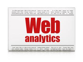 Web design concept: newspaper headline Web Analytics