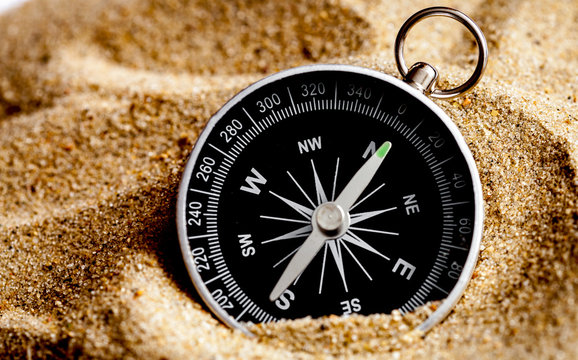 concept compass in sand searching meaning of life