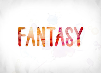 Fantasy Concept Painted Watercolor Word Art