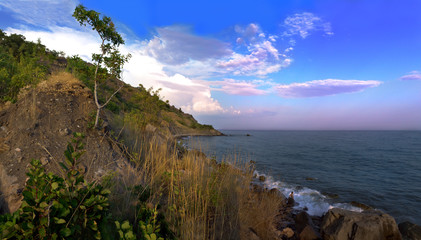 Black sea and sunshine: On crimean shore
