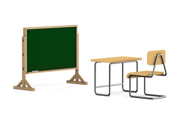 Classroom on white background. Isolated 3D illustration
