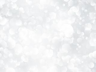 silver bokeh shining background