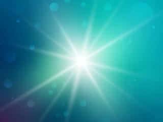 green rays star bokeh background