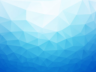 abstract blue poly background