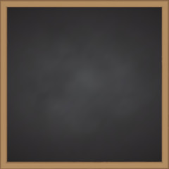 Black chalk board with wood frame