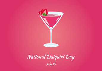 National Daiquiri Day vector. Daiquiri vector illustration. Important day
