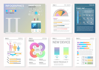 Infographic set. Big set of infographic vector elements for web, print, magazine, flyer, brochure, media, marketing and advertising concepts.