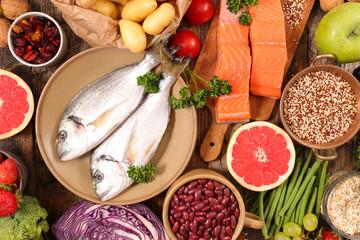 selection of health food