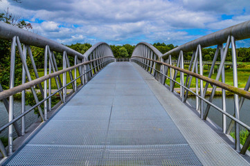 Bicycle Bridge Diemen The Netherlands 2017