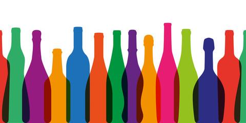 bouteille de vin - silhouette - vin - fond - forme - bannière - web - foire aux vins