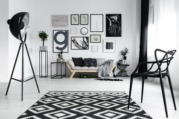 Black stylish chair