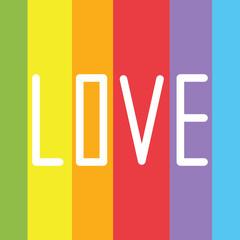 Vector an illustration with an inscription love rainbow spectrum pride.card for the International Day Against Homophobia.rainbow LGBT flag