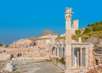 Antoninus Fountain of Sagalassos in Isparta, Turkey.