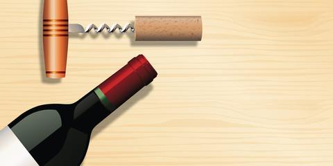 vin - tire bouchon - bouteille de vin - fond - arrière plan - bannière web - foire aux vins