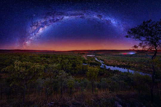 Milky Way arching over El Questro National Park in Western Australia