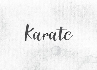 Karate Concept Painted Ink Word and Theme